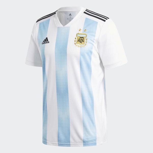 4c3ddc29a46 Argentina Home Jersey White   Clear Blue   Black BQ9324
