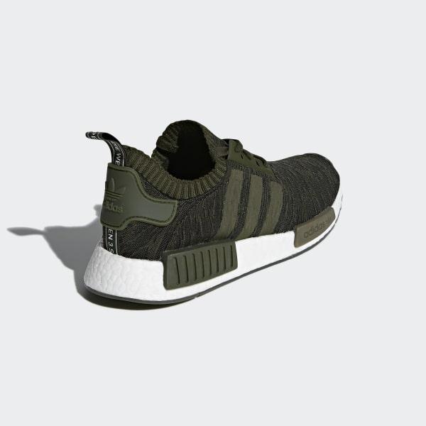Adidas NMD_R1 Primeknit Men's Shoes Night CargoHi Res Green
