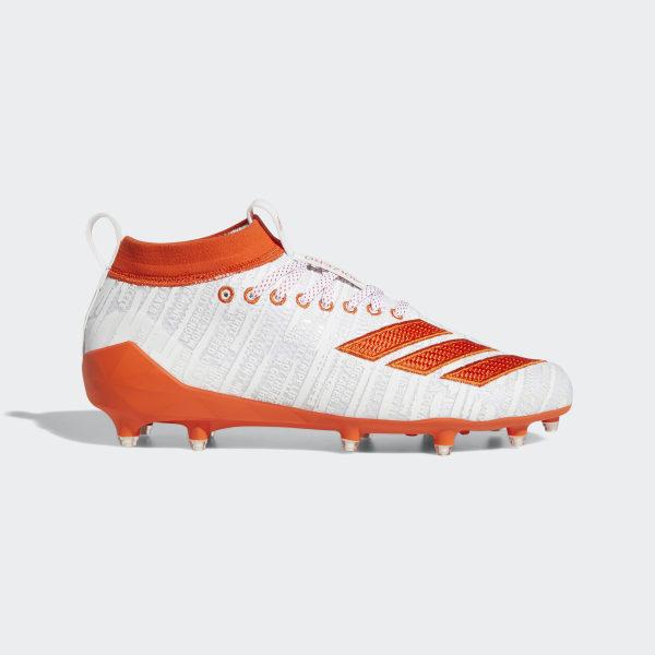 6aaec8b4dff2 Adizero 8.0 Cleats Cloud White / Collegiate Orange / Collegiate Orange  EE7452