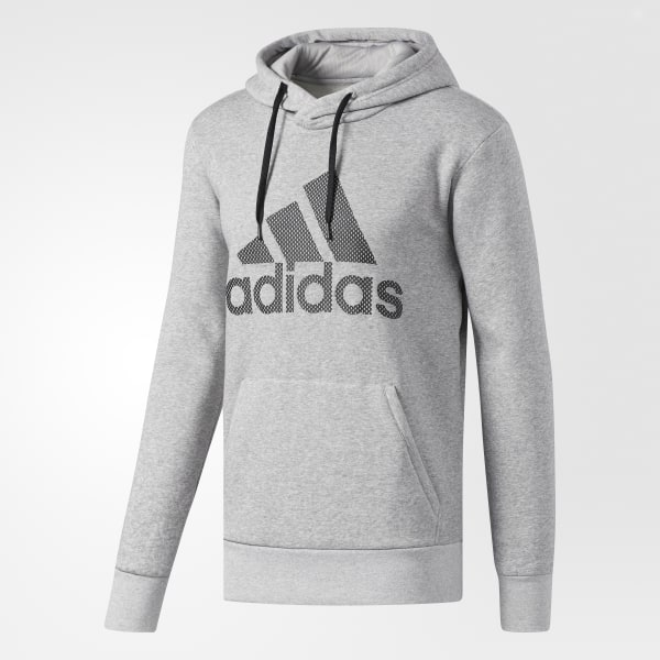 4a1685c623 adidas Essentials Logo Hoodie - Grey | adidas US
