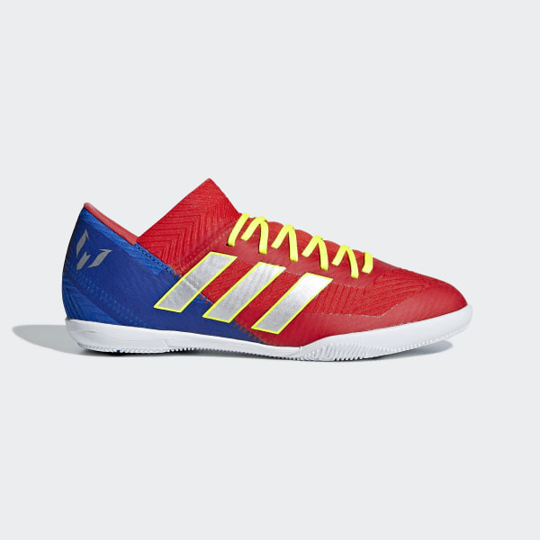 16e723df622 Nemeziz Messi Tango 18.3 Indoor Shoes Active Red   Silver Metallic    Football Blue CM8633