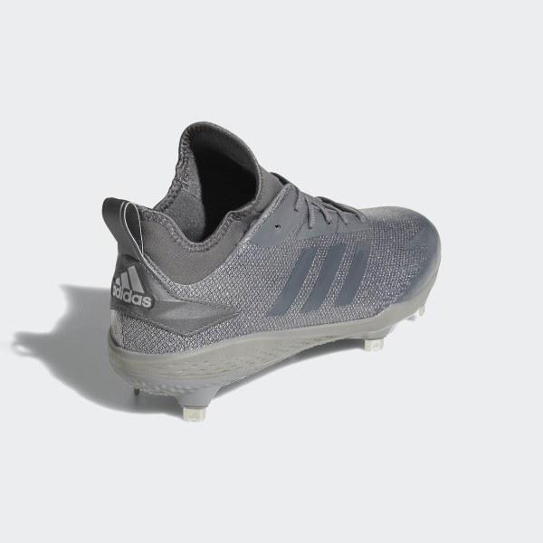 07c00b8cff31 Adizero Afterburner V Dipped Cleats Grey Three / Grey Four / Silver  Metallic AQ0095