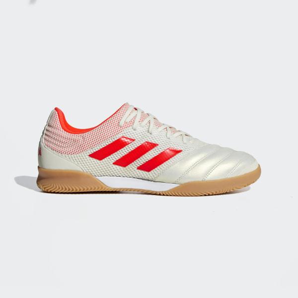 42d9e69b7e Chuteira de Futsal Sala Copa 19.3 Off White / Solar Red / Gum M1 D98065