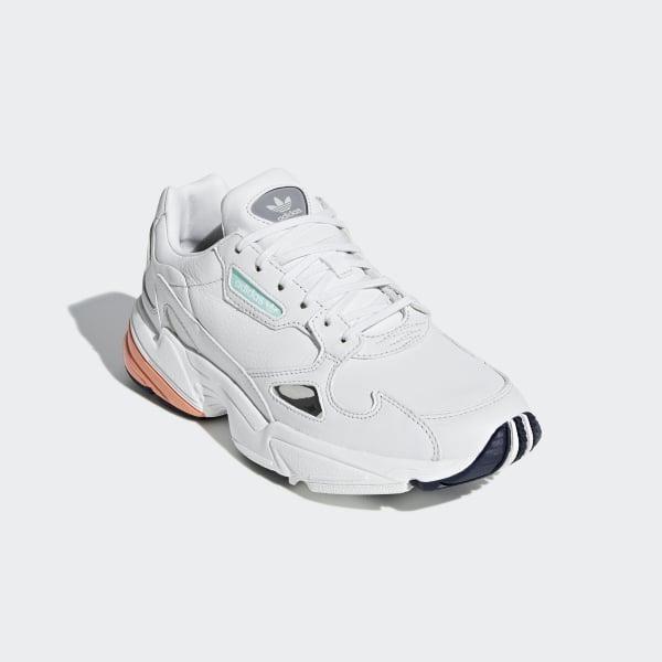 7f5aca0da Falcon Shoes Crystal White   Crystal White   Easy Orange B37845