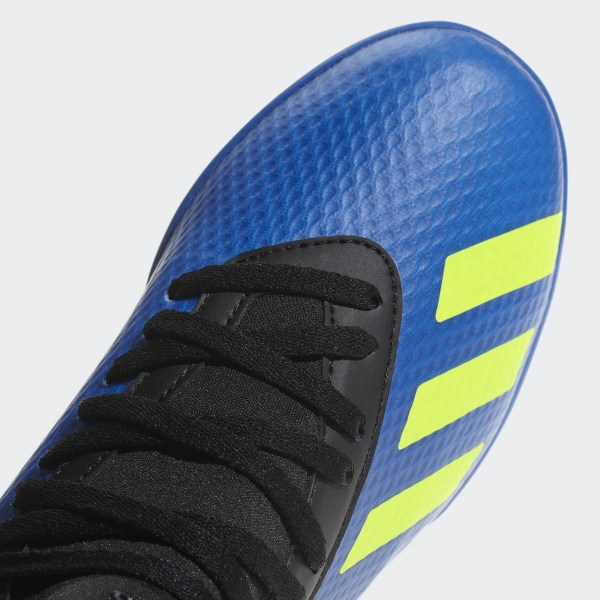 6593d70bf X Tango 18.3 Turf Cleats Football Blue   Solar Yellow   Core Black DB2422