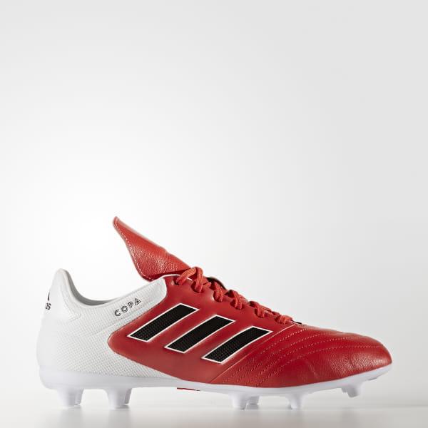 a458df361 Botines de fútbol Copa 17.3 Terreno Firme RED CORE BLACK FTWR WHITE BB3555