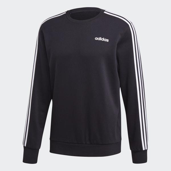 adidas Essentials 3 Streifen Sweatshirt Schwarz | adidas Deutschland