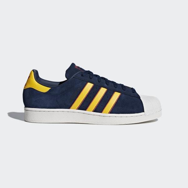 Shoes Men Adidas Superstar Collegiate Navy Yellow Adiprene