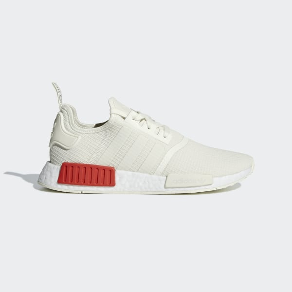 online store 86155 29d5a NMD R1 Shoes Off White   Off White   Lush Red B37619