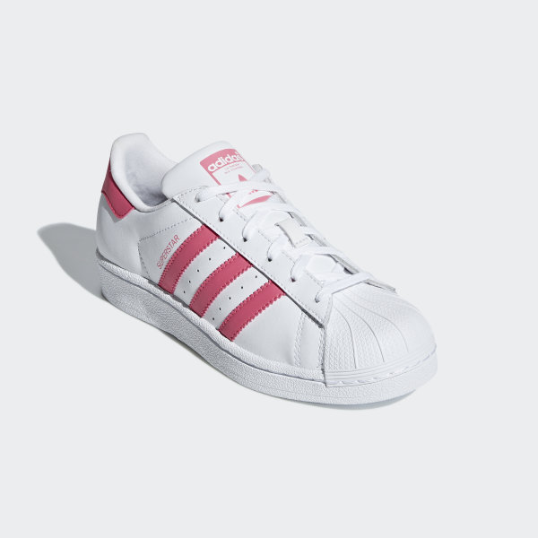 Details about Adidas Originals Superstar Women's Sneaker CG6608 White Pink Leather Shoes