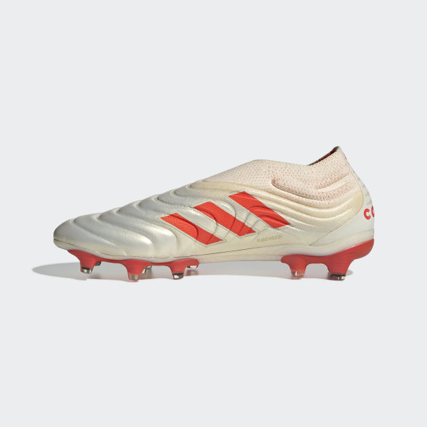 dad14f835 Botines Copa 19+ Terreno Firme Off White / Solar Red / Off White BB9163