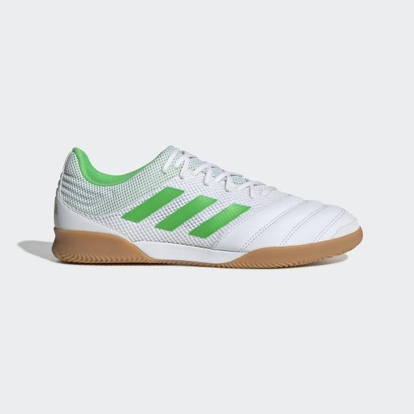 0e1ae7260dc0a Chuteira de Futsal Sala Copa 19.3 Ftwr White / Solar Lime / Gum M1 BC0559