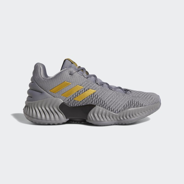 4568623a378 Pro Bounce 2018 Low Shoes Grey Three   Gold Met.   Grey Four AH2683