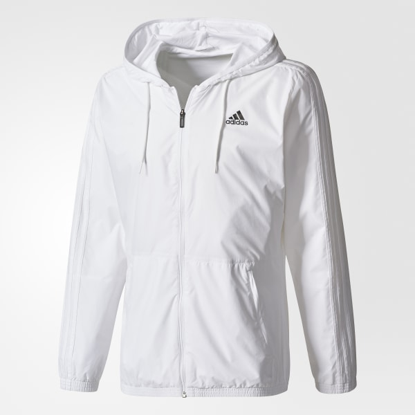 adidas Essentials 3 Stripes Wind Jacket White | adidas US