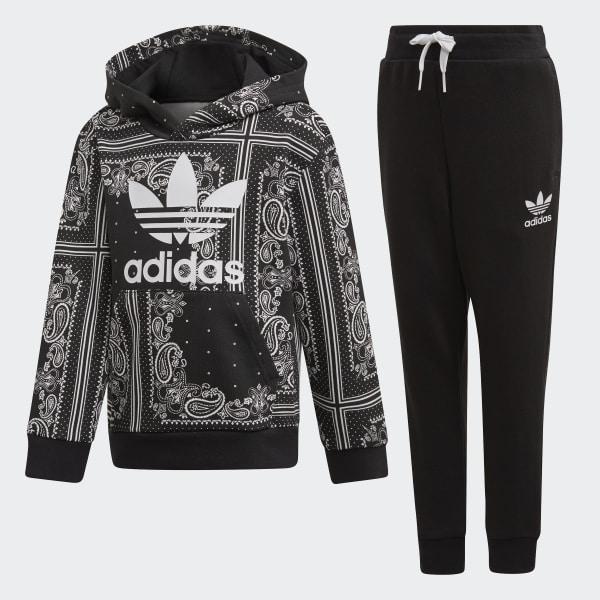3ccb594f adidas Комплект: брюки и худи Bandana - черный | adidas Россия