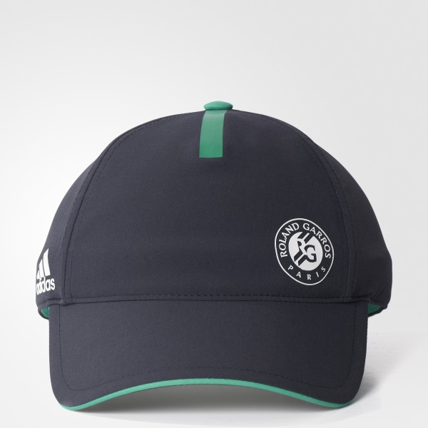 ede00155cb62d Roland Garros Player Hat Night Grey   Core Green   White S98007