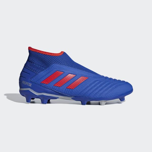 bdf634c08e3 Bota de fútbol Predator 19.3 Laceless césped natural seco Bold Blue /  Active Red / Silver