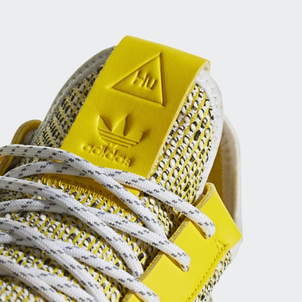 Adidas Originals Pharrell Williams SOLARHU Tennis V2 Shoes Yellow BB9543