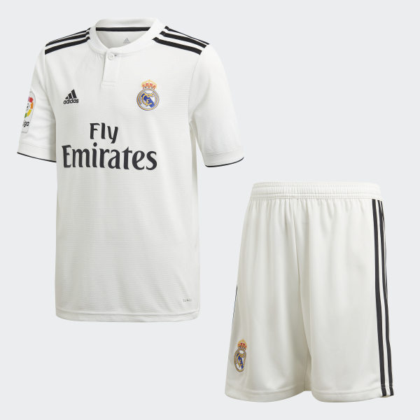 competitive price f7209 5a239 adidas Real Madrid Home Mini Kit - White | adidas Finland