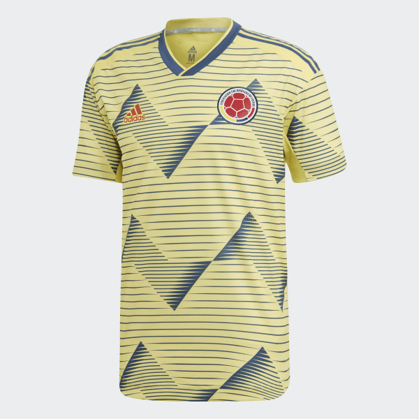 a9e3f2739ce Colombia Home Authentic Jersey Light Yellow / Night Marine DN6620