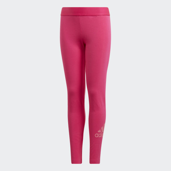 fa66a7303bc0cd Must Haves Badge of Sport Leggings Real Magenta / Semi Solar Pink DV0331