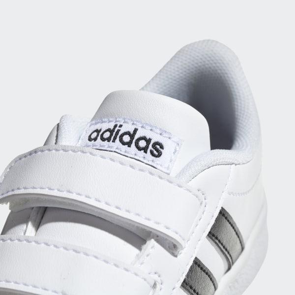saf8dca7 sportssko til baby adidas grand court i hvid sort