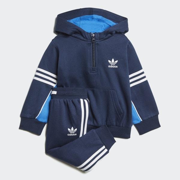 5d481e09e Conjunto Buzo con Capucha Authentics Zip COLLEGIATE NAVY BLUEBIRD WHITE  COLLEGIATE NAVY WHITE