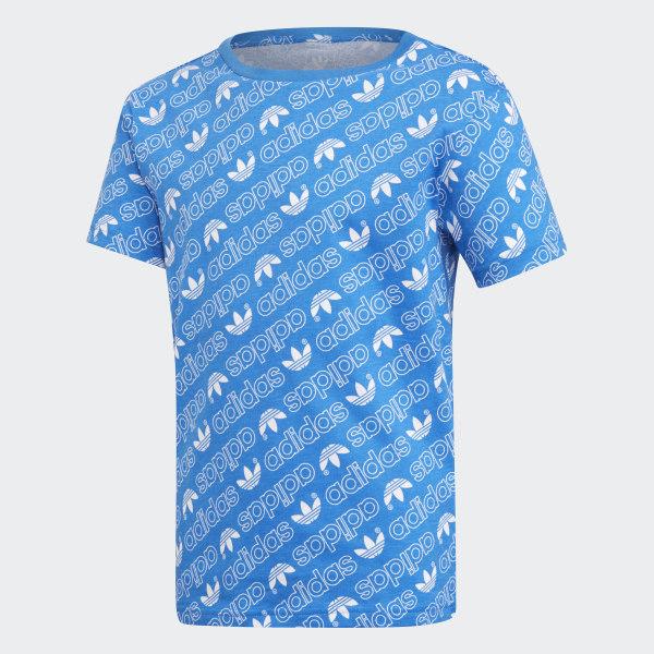 a8c358eb0 adidas Trefoil Monogram Tee - Blue | adidas UK