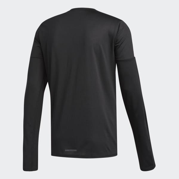 036f25f8 adidas Running 3-Stripes Long-sleeve Top - Black | adidas UK