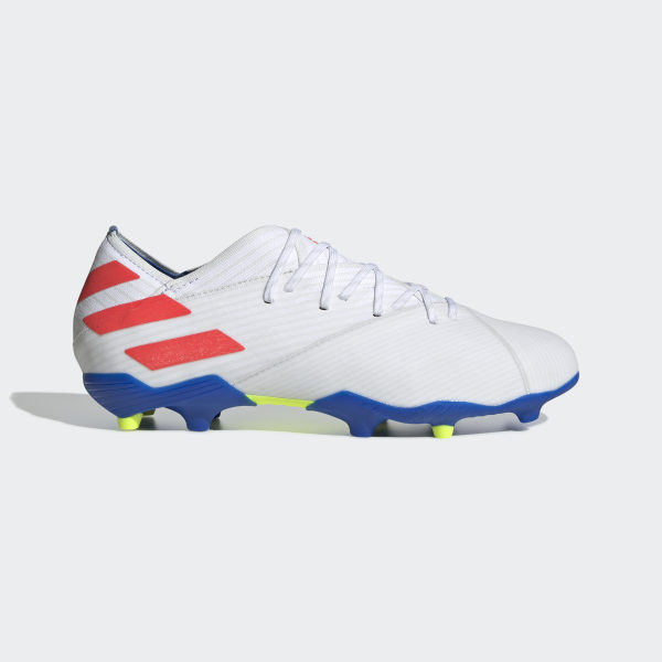 460b64cd Nemeziz Messi 19.1 Firm Ground sko Cloud White / Solar Red / Football Blue  F99934