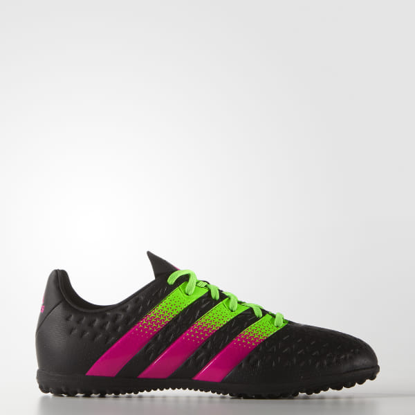 a88548d7e ACE 16.3 Turf Shoes Core Black   Solar Green   Shock Pink AF5265