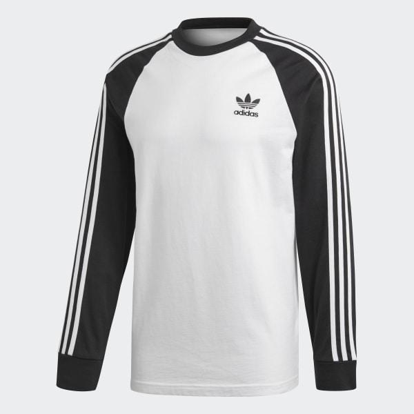 52ea997c adidas 3-Stripes Long-Sleeve Top - White | adidas UK