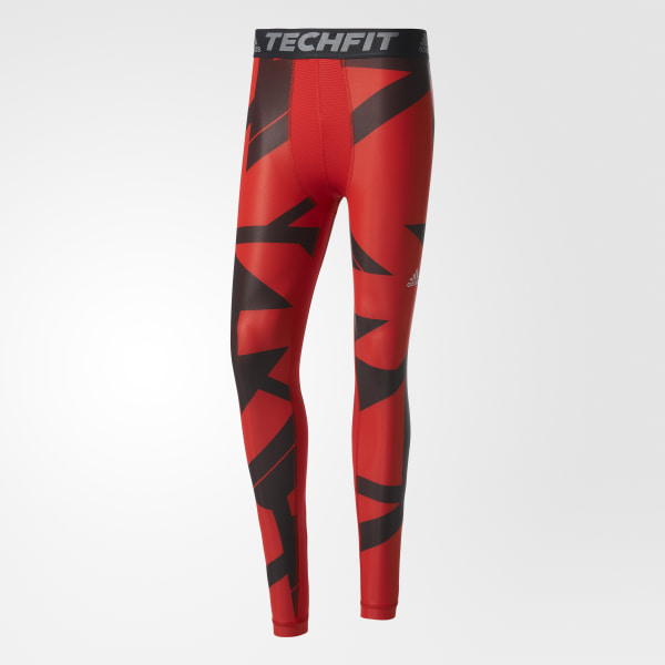 4c9b1bfc0 adidas Techfit Chill Graphic Long Tights - Red | adidas US