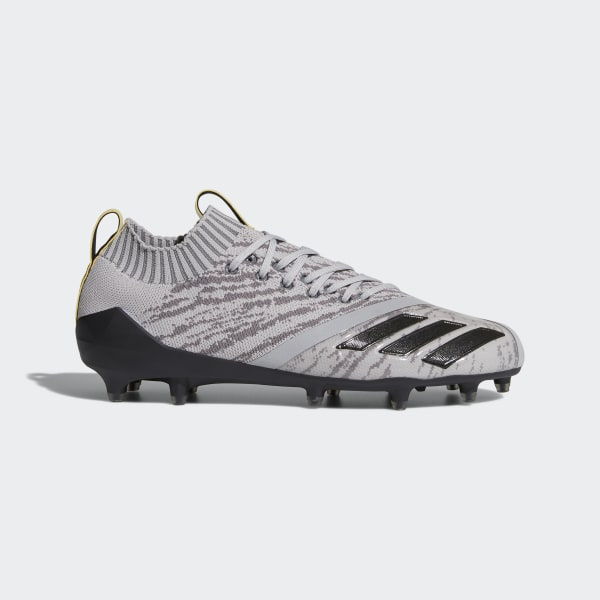 99ac81a93 Adizero 5-Star 7.0 X Primeknit Cleats Grey Two   Core Black   Vivid Yellow