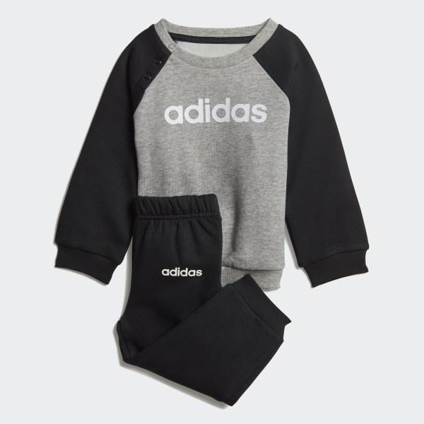 145d47eeec5 Linear Fleece joggingsæt Medium Grey Heather / Black / White DV1266