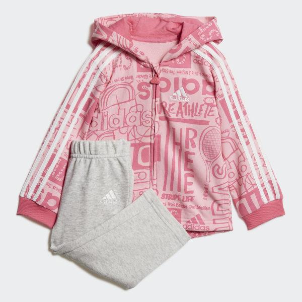 f5322c2c7 Chándal Graphic Fleece Light Pink   Semi Solar Pink   White DV1245