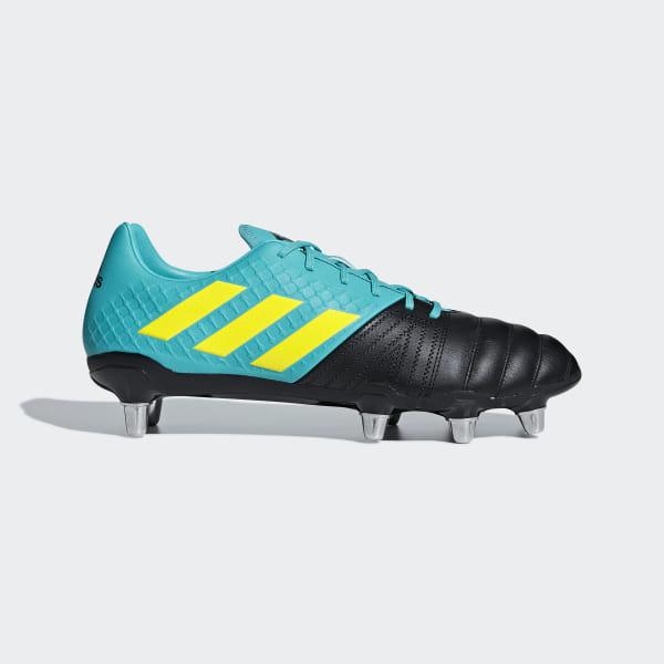 2aa7cd285a2aee Kakari Elite SG Boots Core Black / Shock Yellow / Hi-Res Aqua AC7719