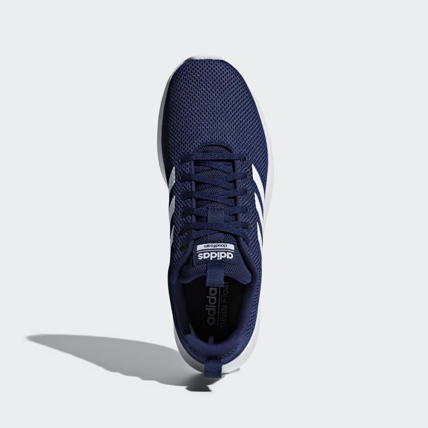 Scarpe Ftwr Racer Essentials Cln White Lite Uomo Blue Dark