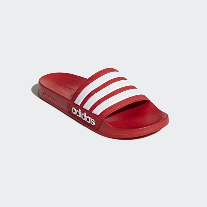 Essentials Ciabatte Cloudfoam Adilette Scarlet footwear White