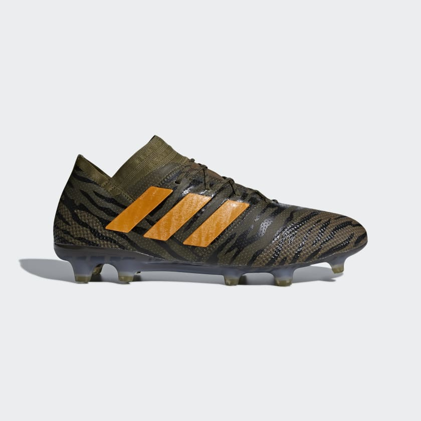 Uomo Calcio Scarpe Da Nemeziz 17 1 Firm Ground Trace Olive bright Orange core Black