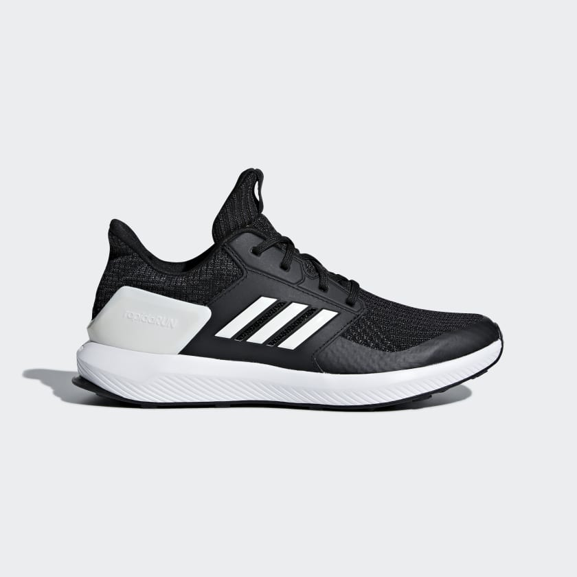 Bambini Running Scarpe Rapidarun Knit Core Black Cloud White Carbon