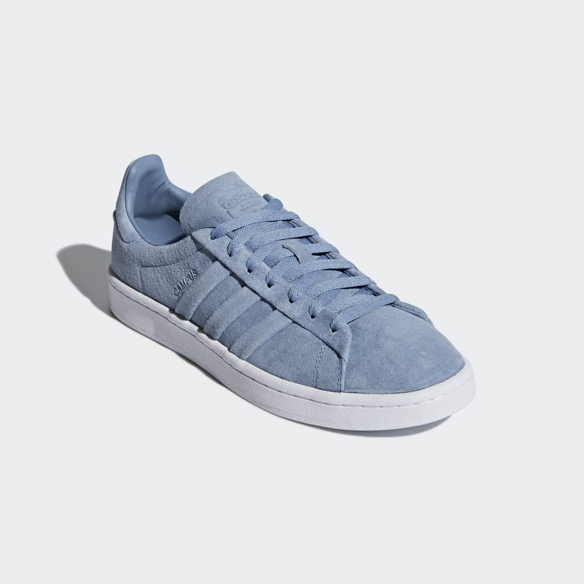 Womens Campus Stitch and Turn Trainers, Blue, One Size adidas