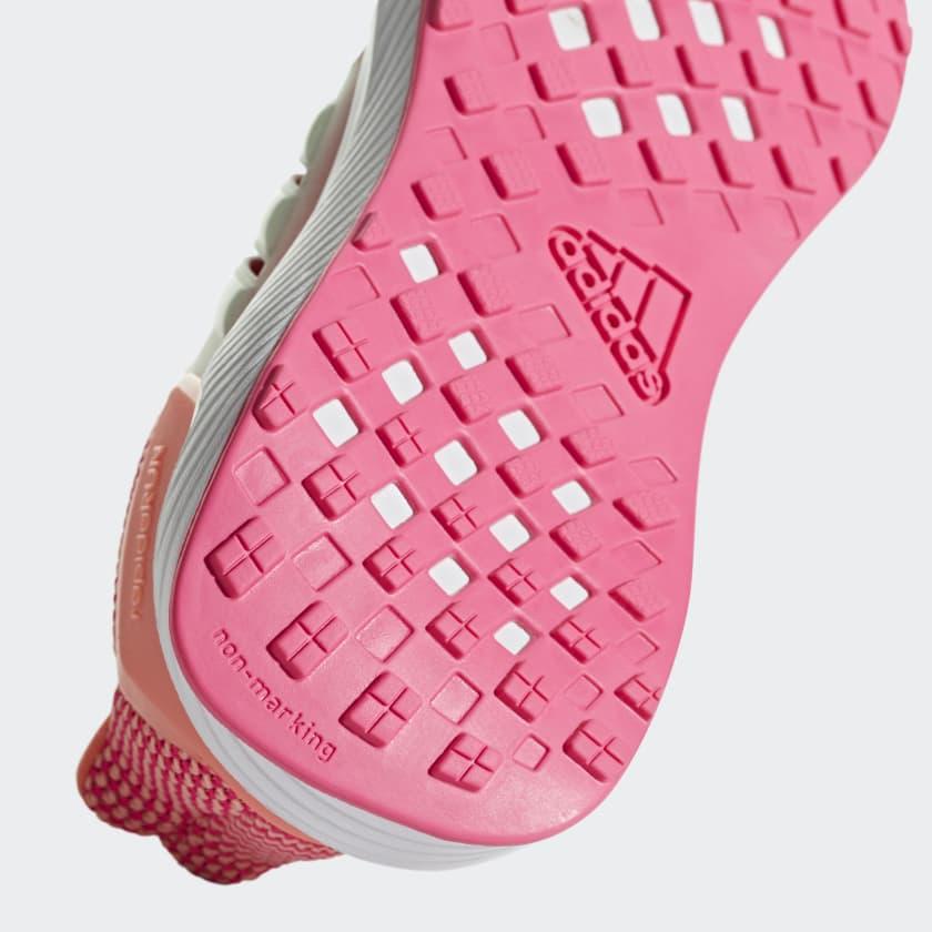 Ragazze Running Scarpe Rapidarun Real Pink Chalk Coral Aero Green