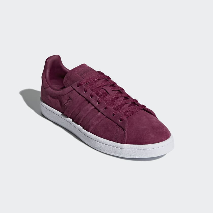 Mens Campus Stitch and Turn Trainers, Dark Red, One Size adidas