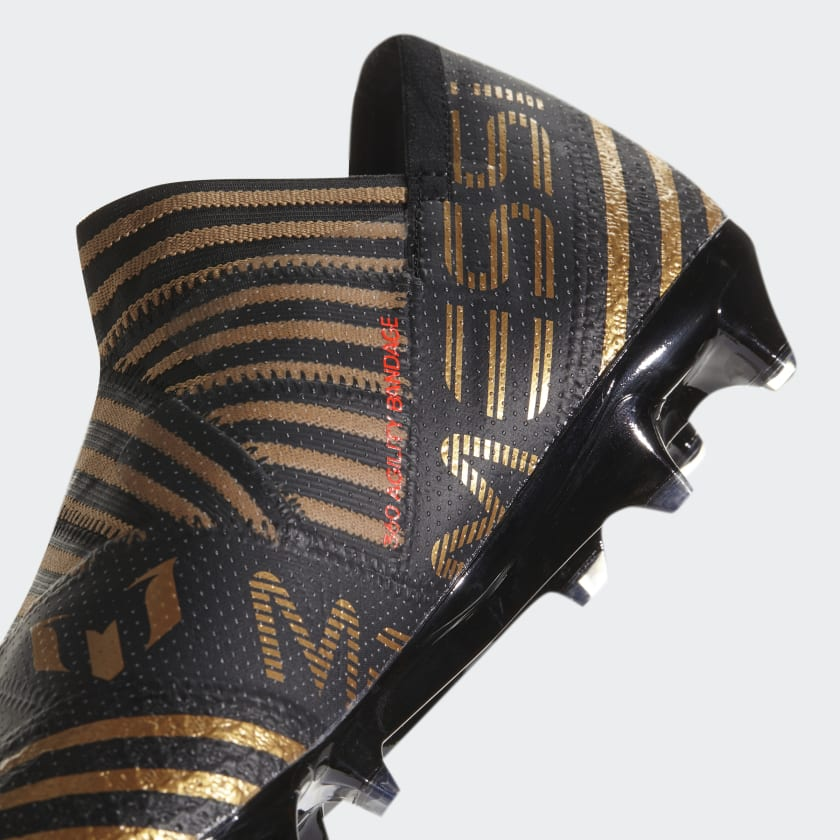 Uomo Calcio Scarpe Da Nemeziz Messi 17 360 Agility Firm Ground Core Black solar Red tactile Gold Met