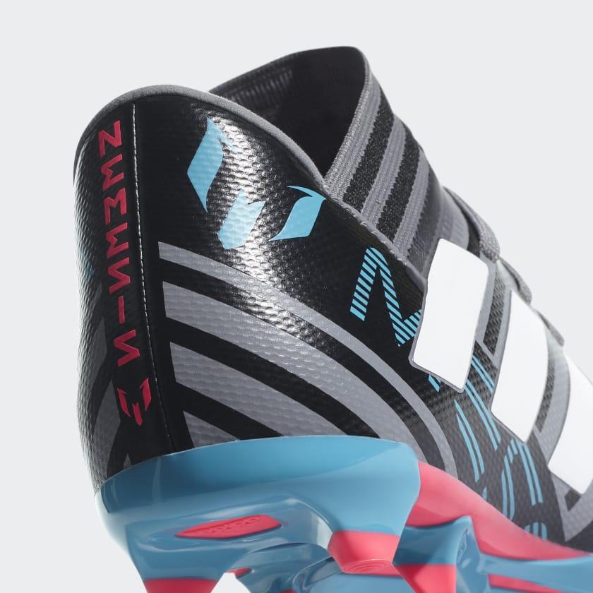 Bambini Calcio Scarpe Da Nemeziz Messi 17 3 Firm Ground Grey ftwr White core Black