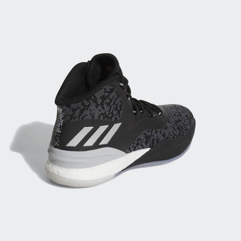 Uomo Basket Scarpe D Rose 8 Core Black silver Metallic grey Two