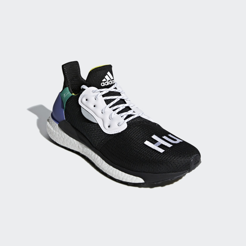 Zapatilla Pharrell Williams x adidas Solar Hu Glide - Negro adidas ...