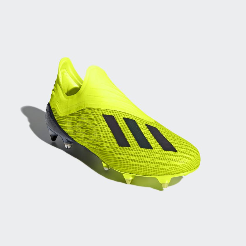 Bota de fútbol X 18+ césped natural húmedo