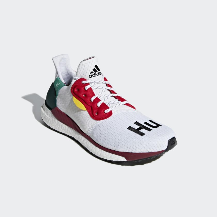 Zapatilla Pharrell Williams x adidas Solar Hu Glide - Blanco adidas ...
